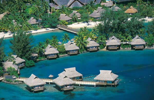 Intercontinental Moorea Aerial